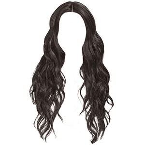 black hair png long