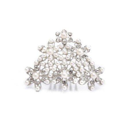 Breakfast at Tiffany's Pearl Tiara Costume Hair Piece ∣ Utopiat