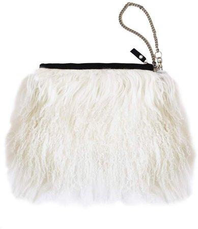Florence Bridge - Fluffy Bianca Clutch Bag Cream
