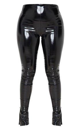 Black Vinyl Skinny Trousers | Trousers | PrettyLittleThing USA