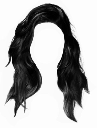 messy black hair long