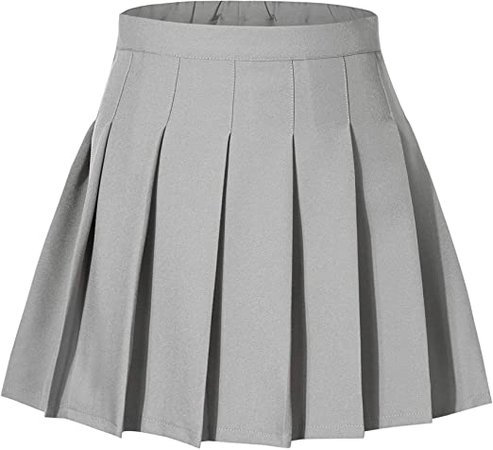 Amazon.com: Tremour Little& Big Girls Uniform Skort Adjustable Waist Pleated Skirt 2 Years - 14 Years: Clothing