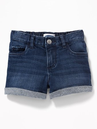 Cuffed Jean Shorts For Toddler Girls | Old Navy