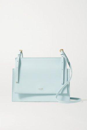 Alexis Leather Shoulder Bag - Sky blue