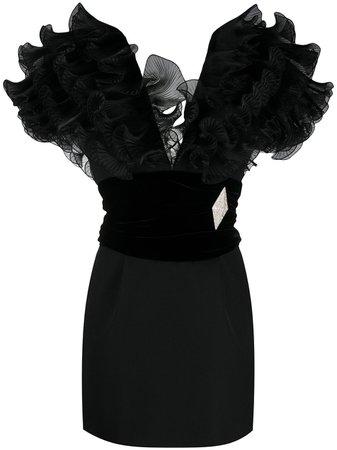 Alexandre Vauthier Ruffle Mini Dress - Farfetch
