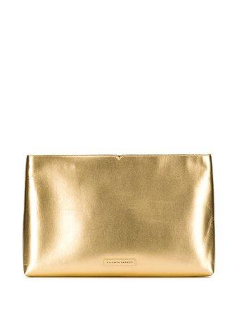 Giuseppe Zanotti Oversized Metallic Clutch IB90015002 Gold   Farfetch
