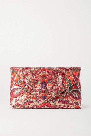 Envelope Jacquard Clutch - Red