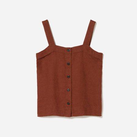Women's Linen Picnic Top | Everlane brown