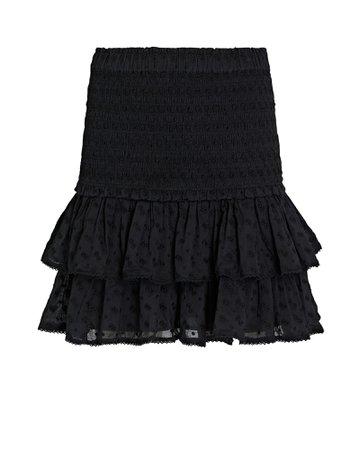 Isabel Marant Étoile Tinaomi Smocked Mini Skirt | INTERMIX®