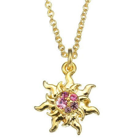 Tangled sun necklace