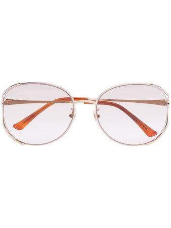 Gucci Eyewear round-frame gold-tone Sunglasses - Farfetch