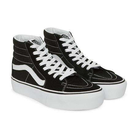 WMNS SK8-Hi Platform 2.0 Sneakers Black / True White Vans