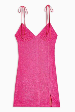 Neon Pink Sequin Slip Dress | Topshop