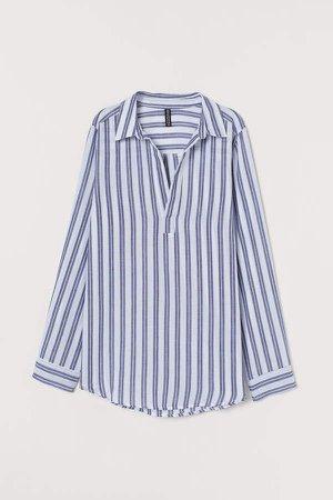 V-neck Shirt - White
