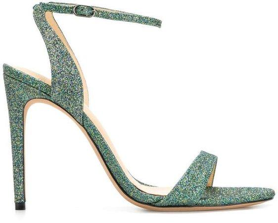 glitter high heel sandals