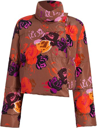Michelle Waugh The Khirma Floral Puffer Jacket