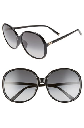 Givenchy 63mm Oversize Gradient Round Sunglasses   Nordstrom