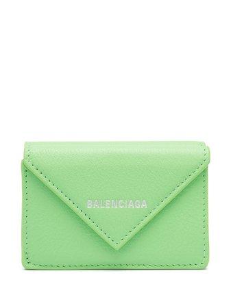 Balenciaga Papier mini wallet green 391446DLQ0N - Farfetch