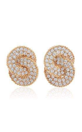 Gold-Tone And Crystal Clip Earrings By Alessandra Rich | Moda Operandi