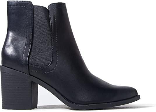 Amazon.com | J. Adams Andi Chelsea Boots for Women - High Heel Slip-On Ankle Boots for Women | Ankle & Bootie