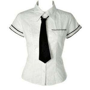 uniform shirt with tie