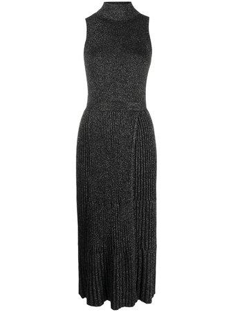 DVF Diane Von Furstenberg Lennon Lurex Knitted Dress - Farfetch