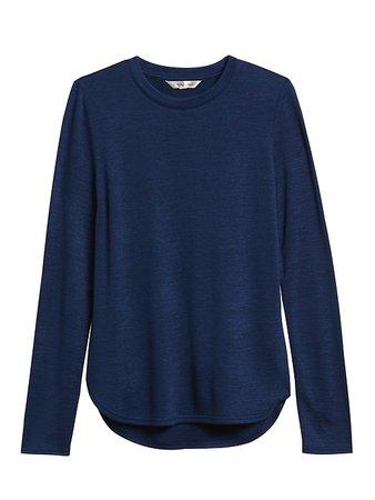 Luxespun Long-Sleeve T-Shirt | Banana Republic