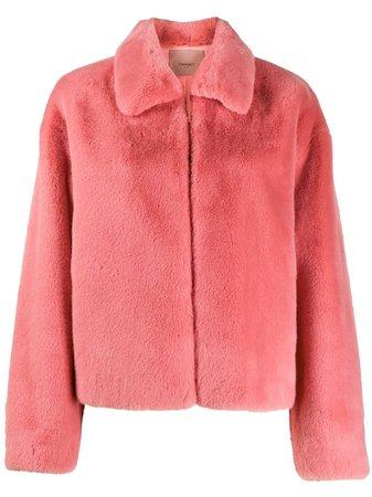 Twin-Set Short faux-fur Coat - Farfetch