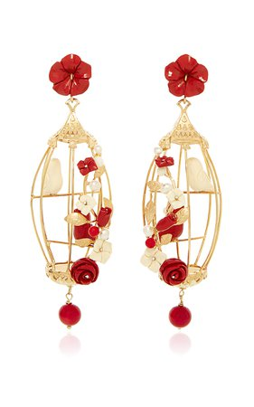 Ruby Lovebird Earrings by Of Rare Origin | Moda Operandi