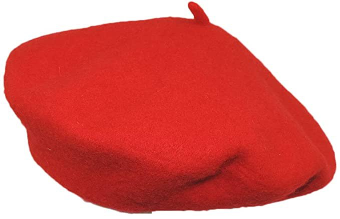 Classic French Artist 100% Wool Beret Hat Red at Amazon Women's Clothing store