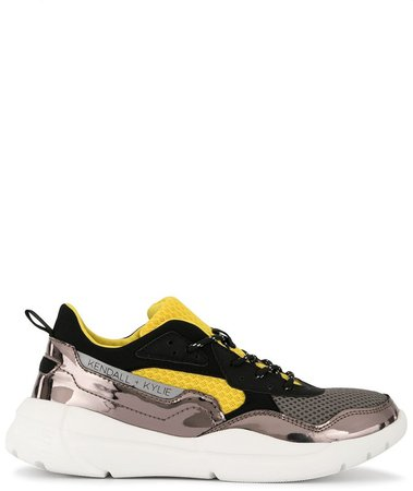 Colour Block Panelled Sneakers