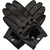 Riparo Motorsports Genuine Leather Full-finger Driving Gloves (X-Large, Black/Red Thread) at Amazon Men's Clothing store