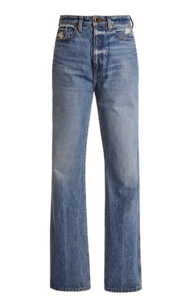 Danielle Rigid High-Rise Straight-Leg Jean By Khaite | Moda Operandi