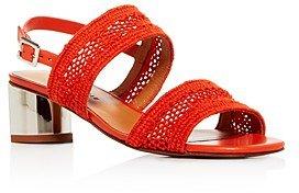 Women's Leana Woven Slingback Block-Heel Sandals
