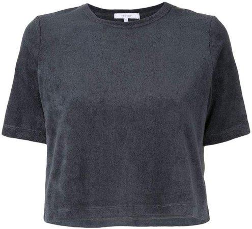 Venroy Terry Towel cropped T-Shirt