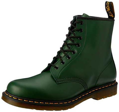 Dr. Martens 1460 Originals 8 Eye Lace Up Boot, Green Smooth Leather, 6UK / 7 US Mens / 8 US Womens, 39 EU: Amazon.ca: Shoes & Handbags