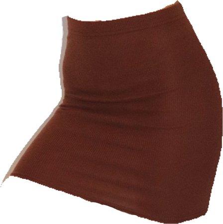 chocolate brown mini skirt