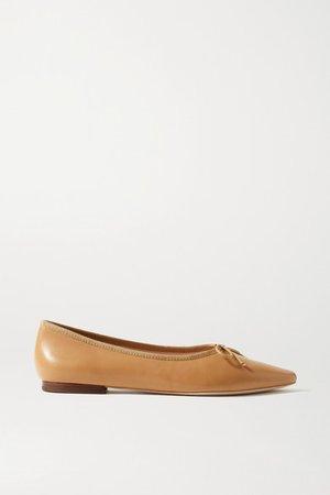Georgie Leather Ballet Flats - Tan
