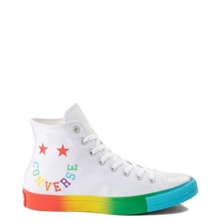 Converse Chuck Taylor All Star Hi Smiley Sneaker - White / Multi   JourneysCanada