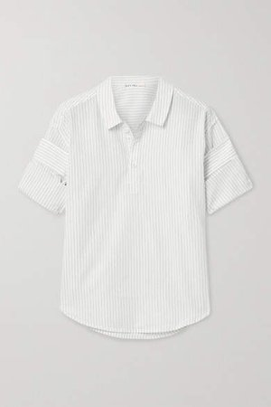 Pinstriped Cotton And Linen-blend Shirt - Off-white