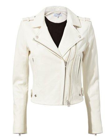 White Moto Jacket   IRO