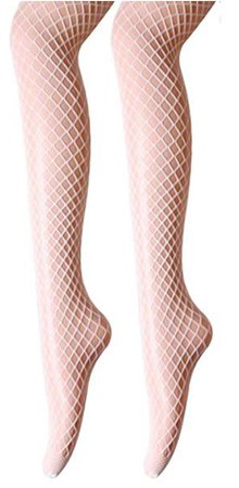 white fishnet hose stockings hosiery tights