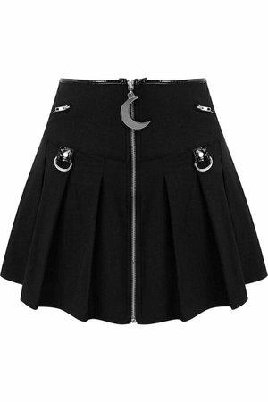Gothic Skirt W/ Moon Zipper