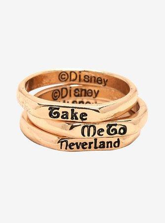 Disney Peter Pan Never Land Stackable Ring Set