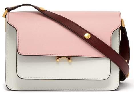 Trunk Medium Leather Shoulder Bag - Womens - Pink Multi