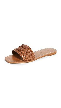 Loeffler Randall Joey Woven Square Toe Slide Sandals | SHOPBOP