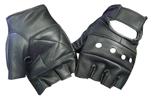 Fingerless Leather Gloves