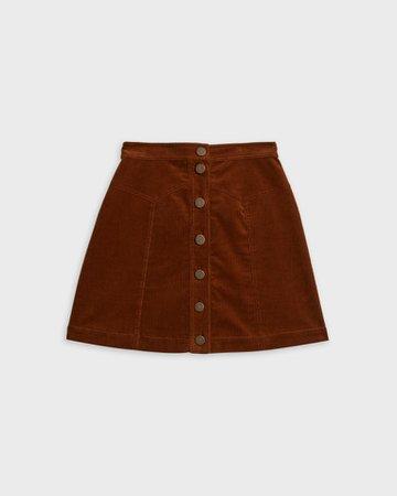 Button through mini skirt - Brown   Skirts   Ted Baker