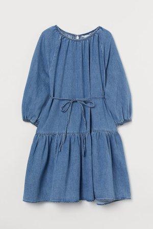 MAMA Denim Dress - Blue