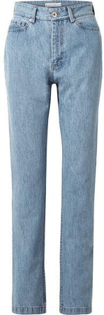 Matthew Adams Dolan - High-rise Straight-leg Jeans - Blue